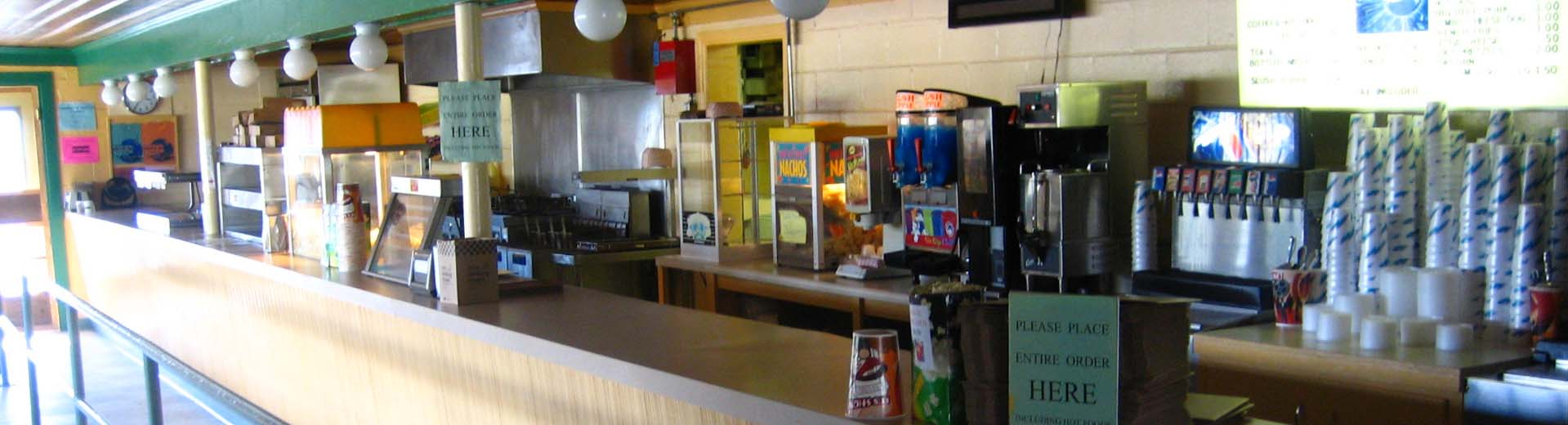 The concession stand at the Cumberland Drive-In Theatre in Newville